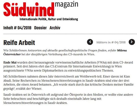 Screenshot Südwind Magazin