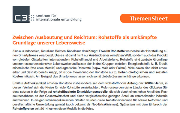 [Translate to Englisch:] Download Themensheet Rohstoffe